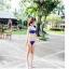 พร้อมส่ง ชุดว่ายน้ำบิกินี่ทูพีซสีน้ำเงิน บราและบิกินี่แต่งห่วงเหล็กสวยๆ thumbnail 3