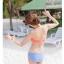 PRE ชุดว่ายน้ำบิกินี่ บรามีโครง สายคล้องคอ กางเกงบิกินี่ พร้อมเสื้อคลุมลายสวยเก๋ thumbnail 26