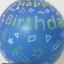 """ลูกโป่งจัมโบ้ สีน้ำเงินพิมพ์ลาย Happy Birthday ขนาด 24 นิ้ว - Round Jumbo Balloon Blue printing HBD 24"""" thumbnail 3"""
