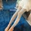 กางเกงผ้าคอตตอนคลุมท้องขายาว ลายไม้ : สีเทา รหัส PN184 thumbnail 11