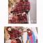 ผ้าพันคอขนสัตว์ แต่งลายสก๊อตสีแดง thumbnail 4