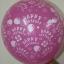 """ลูกโป่งกลมพิมพ์ลาย Happy Birth Day คละสี แบบที่ 3 ไซส์ 12 นิ้ว จำนวน 10 ใบ (Round Balloons 12"""" - Happy Birth Day Design no. 3 latex balloons) thumbnail 4"""