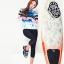 ชุดว่ายน้ำแขนยาว กางเกงสามส่วน เสื้อคัลเลอร์ฟูลสีสดใส เซ็ต 3 ชิ้น เสื้อ+บิกินี่+ขายาว thumbnail 7