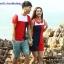 เสื้อคู่รัก ชายเสื้อยืดคอกลม + หญิงเดรสคอปกแขนกุด แต่งสีแดงดำขาว +พร้อมส่ง+ thumbnail 4