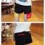 กางเกงคู่รัก ชาย + หญิงกางเกงขาสั้น แบบรูดซิบ ลายสีเรียบ สีดำ +พร้อมส่ง+ thumbnail 7