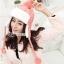 หมวกแฟชั่นเกาหลีพร้อมส่ง ปิดหูครอบหัว เอสกิโม่ปิดหูมีจุกด้านบน กันหนาวหิมะ สีชมพู thumbnail 2