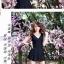 พร้อมส่ง 2XL ชุดว่ายน้ำไซส์ใหญ่ สีดำ สายเสื้อกล้าม กระโปรงระบายสวยๆ thumbnail 5