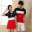 เสื้อคู่พรีเวิดดิ้ง เดรสคู่รักเกาหลี ชายเสื้อแขนสั้น+ หญิงเดรสแขนสั้น ลายเมกา +พร้อมส่ง+ thumbnail 1