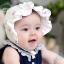 หมวกเด็กหญิงสีขาว เหลือง ชมพู PB37 thumbnail 1