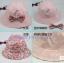 หมวกเด็กผู้หญิง ลายดอกใส่ได้สองด้าน PB12 thumbnail 2