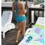 พร้อมส่ง ชุดว่ายน้ำบิกินี่ทูพีซสีฟ้า บราแต่งโบว์ที่อก สายคล้องคอ กางเกงกระโปรงแต่งปลายระบายน่ารักๆ thumbnail 2