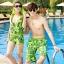 PRE ชุดว่ายน้ำคู่รัก บิกินี่ ลายสวย พร้อมชุดคลุมเอี๊ยม มีฮู้ด thumbnail 3