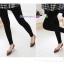 กางเกงเลคกิ้งคลุมท้องผ้าคอตตอน ขายาว : สีดำ รหัส PN052 thumbnail 1