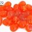 ลูกปัดแก้ว ทรงหยดน้ำ สีส้ม 10x15 มิล (1ขีด/100กรัม) thumbnail 1