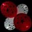 ลูกโป่ง LED พิมพ์ลายดาว คละสี แพ็ค 5 ชิ้น ไฟสลับสี (LED Balloon Star Mixed Color - LED RGB) thumbnail 8