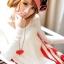 เสื้อคลุมท้องแขนยาว ลายอินเทรน : สีขาว รหัส SH132 thumbnail 8