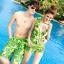 PRE ชุดว่ายน้ำคู่รัก บิกินี่ ลายสวย พร้อมชุดคลุมเอี๊ยม มีฮู้ด thumbnail 5