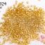 ลูกปัดจีน กลม สีทองสอดไส้ 2มิล #S (5กรัม) thumbnail 1
