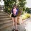 ชุดว่ายน้ำแขนยาวสีชมพู-น้ำเงิน กางเกงขาสั้นสีดำ thumbnail 5
