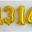 """ลูกโป่งฟอยล์รูปตัวเลข 4 สีทอง ไซส์เล็ก 14 นิ้ว - Number 4 Shape Foil Balloon Size 14""""Gold Color thumbnail 2"""