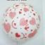 """ลูกโป่งกลมสีขาว พิมพ์ลายหัวใจ สีแดง รอบใบ ไซส์ 12 นิ้ว แพ็คละ 10 ใบ (Round Balloons 12"""" - Printing Heart red on latex White balloons) thumbnail 3"""
