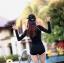 ชุดว่ายน้ำแขนยาว เซ็ต 3 ชิ้น สีขาว-ดำ (บรา+กางเกงขาสั้น+เสื้อแขนยาว) thumbnail 10