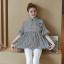 K114221 เสื้อคลุมท้องแฟชั่นเกาหลี โทนสีดำสลับ thumbnail 4