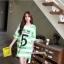เสื้อคลุมท้องแขนสั้น ลายขวางสกีนเลขห้า : สีเขียว รหัส SH213 thumbnail 10
