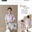 เสื้อแฟชั่นเกาหลีเย็บแต่งคอเสื้อน่ารักหวานๆ แขนเสื้อแต่งระบาย สีชมพู thumbnail 3
