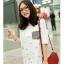 เสื้อคลุมท้องแขนสั้น กระเป๋าลายสก็อต : สีขาว รหัส SH207 thumbnail 1