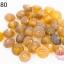 ลูกปัดแก้ว ทรงจานบิน สีน้ำตาล 8มิล(1ขีด/100กรัม) thumbnail 1