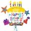 ลูกโป่งฟลอย์นำเข้า Happy Birthday Cupcake Star / Item No. AG-28796 แบรนด์ Anagram ของแท้ thumbnail 1