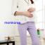 PK74006 กางเกงคนท้องแฟชั่นเกาหลี ลายสมอเล็ก มี 3 สีให้เลือก มีผ้าพยุงท้อง เอวปรับได้ตามอายุครรภ์ thumbnail 5