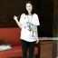กางเกงฮาเร็มคลุมท้อง ขาขาว : สีดำ รหัส PN111 thumbnail 1