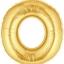 """ลูกโป่งฟลอย์รูปตัวอักษร O สีทอง ไซส์จัมโบ้ 40 นิ้ว - O Letter Shape Foil Balloon Size 40"""" Gold Color thumbnail 1"""
