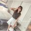 เสื้อแฟชั่นเกาหลี แขนกุด พิมพ์ลายเสื้อตามภาพ เนื้อผ้าชีฟองหางกระรอก thumbnail 3