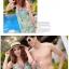 พร้อมส่ง ชุดว่ายน้ำคู่รัก ชุดว่ายน้ำบิกินี่ทูพีซ ลายสัตว์ทะเล พร้อมชุดแซกคลุมผ้าซีทรูสวย thumbnail 3