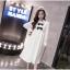 K1123559 เดรสคลุมท้องแฟชั่นเกาหลีโทนสีขาว thumbnail 4