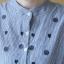 เสื้อคลุมท้อง โทนสีฟ้า กระดุมจริงเปิดให้นมได้ thumbnail 5