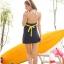 พร้อมส่ง 2XL ชุดว่ายน้ำไซส์ใหญ่ ชุดว่ายน้ำวันพีชทรงชุดแซก บราลายขวาง กระโปรงสีกรมท่า ตัดสีสันด้วยโบว์สีเหลืองสวยๆ thumbnail 7