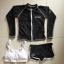 ชุดว่ายน้ำแขนยาว เซ็ต 3 ชิ้น สีขาว-ดำ (บรา+กางเกงขาสั้น+เสื้อแขนยาว) thumbnail 11