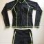ชุดว่ายน้ำแขนยาวสีดำแต่งเส้นขอบ+เส้นด้ายสีเขียวสะท้อนแสง (เสื้อซิปหน้า) thumbnail 7