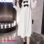 K1123559 เดรสคลุมท้องแฟชั่นเกาหลีโทนสีขาว thumbnail 3