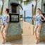 พร้อมส่ง ชุดว่ายน้ำวันพีซผ้าลายน่ารักๆ ทรงเกาะอก แต่งระบายเก๋ๆ thumbnail 3
