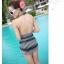 พร้อมส่ง ชุดว่ายน้ำวันพีซ สายคล้องคอ หลังเว้าลึกเซ็กซี่ ผ้าตาข่าย จับจีบย่นด้านข้างสวยๆ thumbnail 15