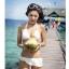พร้อมส่ง ชุดว่ายน้ำบิกินี่ทูพีช สายคล้องคอ กางเกงแต่งระบายสวยๆ thumbnail 11