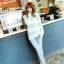 เสื้อกันหนาวแขนยาว ขนแกะ แต่งลายเขียวขาว +พร้อมส่ง+ thumbnail 4