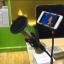 Live สด เสียงใสกิ๊ก ขาตั้งไมโครโพนไมค์อัดเสียง พร้อมแผ่นกรองเสียง Stereo Condenser Recording Desktop Microphone (Black) thumbnail 4