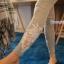 กางเกงผ้าคอตตอนคลุมท้องขายาว ลายไม้ : สีเทา รหัส PN184 thumbnail 14