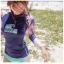 พร้อมส่ง ชุดว่ายน้ำแขนยาว สีสันสดใส เสื้อโทนชมพูม่วง บิกินี่สีฟ้าสวยๆ thumbnail 3